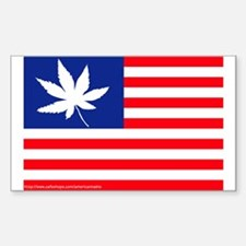 AMERICANNABIS FLAG.... Sticker (Rect.)