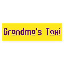 Grandma's Taxi Bumper Bumper Sticker