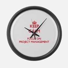 Project management Large Wall Clock