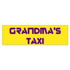 Grandma's Taxi - Gold Purple 1 Bumper Bumper Sticker