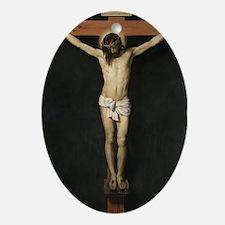Jesus Crucifiixion Ornament (Oval)