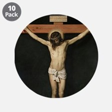 "Jesus Crucifiixion 3.5"" Button (10 pack)"