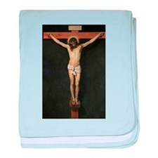 Jesus Crucifiixion baby blanket