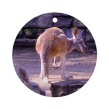 red kangaroos Ornament (Round)