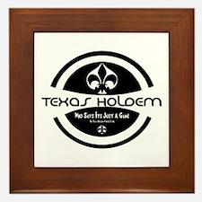 Cute Texas hold em Framed Tile