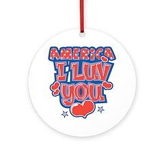 America Luv Ornament (Round)