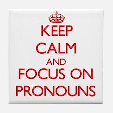 Cute Pronouns Tile Coaster
