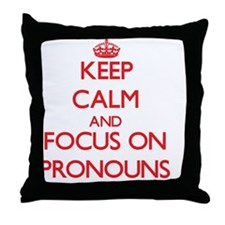 Cute Pronouns Throw Pillow
