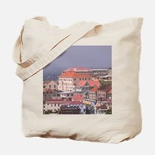 Town & Harbor View with Lucas Streetwn &  Tote Bag