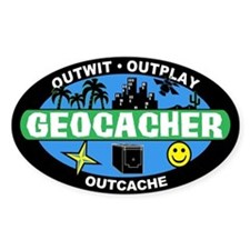 Geocacher Oval Decal