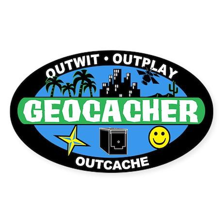 Geocacher Oval Sticker