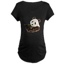 Watercolor Panda Asian Bear Maternity T-Shirt