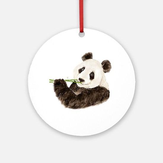 Watercolor Panda Asian Bear Ornament (round)