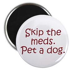 """Pet a Dog 2.25"""" Magnet (10 pack)"""