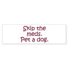 Pet a Dog Bumper Bumper Sticker