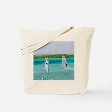Sorobon Beach: Windsurfing on Lac Bay & S Tote Bag