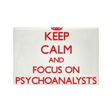 Keep Calm and focus on Psychoanalysts Magnets