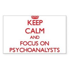 Keep Calm and focus on Psychoanalysts Decal