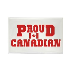 Proud Canadian Rectangle Magnet (10 pack)
