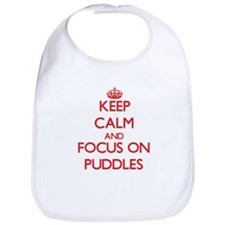 Cute Keep calm and carry on jumping Bib