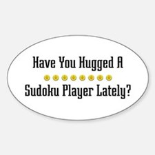 Hugged Sudoku Player Oval Decal