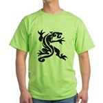 Black Panther Tattoo Green T-Shirt