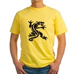Black Panther Tattoo Yellow T-Shirt