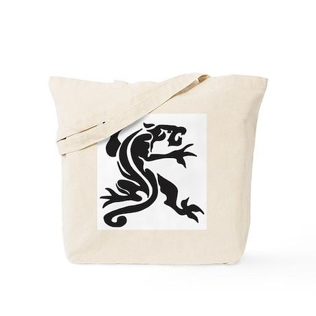 Black Panther Tattoo Tote Bag