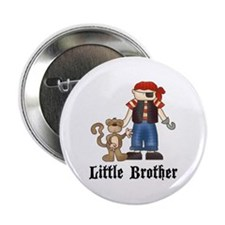 "Pirate Little Brother 2.25"" Button (10 pack)"
