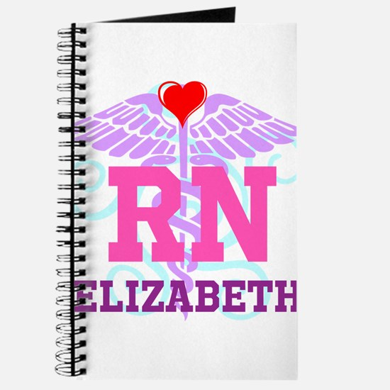 Personalized RN Swirl and Heart Journal