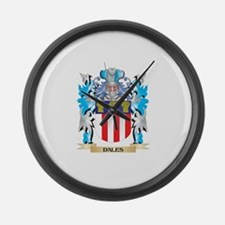Unique Daly family crest Large Wall Clock