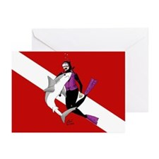 Diver Greeting Cards (Pk of 10)