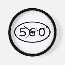560 Oval Wall Clock