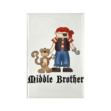 Pirate Middle Brother Rectangle Magnet
