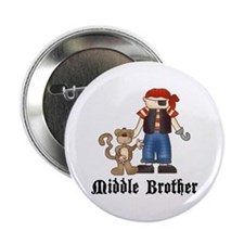 """Pirate Middle Brother 2.25"""" Button (100 pack)"""
