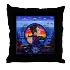"""Doorway to Secrets"" by Anya Throw Pillow"