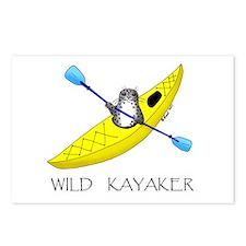 kayaking seal Postcards (Package of 8)