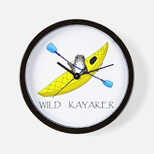 kayaking seal Wall Clock