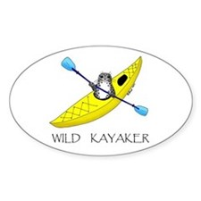 kayaking seal Oval Decal