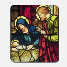 Nativity in Stained Glass Mousepad