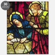 Nativity in Stained Glass Puzzle