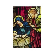 Nativity in Stained Glass Rectangle Magnet
