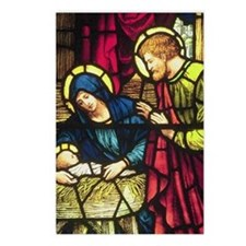 Nativity in Stained Glass Postcards (Package of 8)