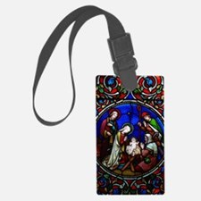 Stained Glass Nativity Luggage Tag