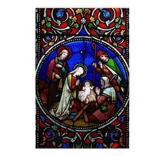 Stained Glass Nativity Postcards (Package of 8)