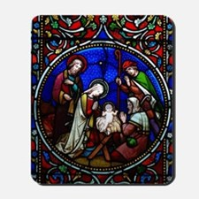 Stained Glass Nativity Mousepad