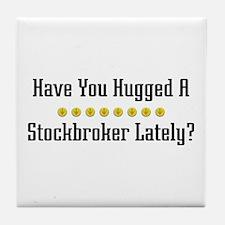 Hugged Stockbroker Tile Coaster