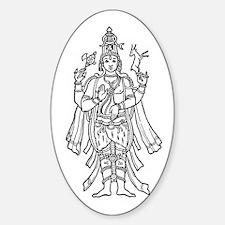 Shiva - Hindu Diety Oval Decal