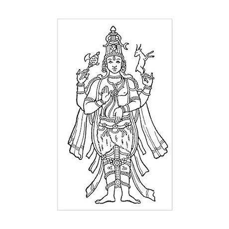 Shiva - Hindu Diety Rectangle Sticker