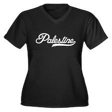 Palestine Women's Plus Size V-Neck Dark T-Shirt